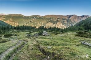 Il vallone dell'Albergian, con la vista verso l'Assietta